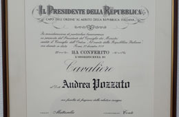 Diploma from the President of the Italian Republic